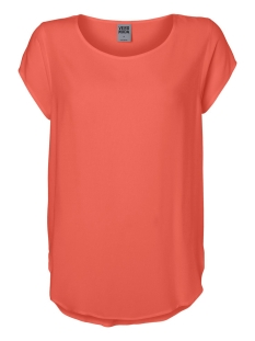 Vero Moda T-shirt VMBOCA SS BLOUSE COLOR 10104053 Emberglow