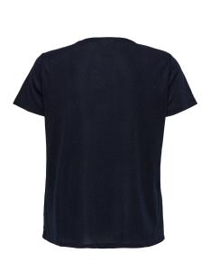 carrex  s/s o neck lurex top ess 15172382 only carmakoma t-shirt night sky/silver gli