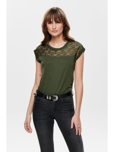 onlnicole s/s mix top noos 15151008 only t-shirt crocodile