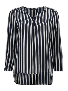 vmsasha 3/4 top color 10215422 vero moda blouse navy blazer/snow white