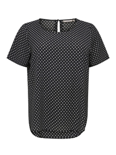 Only Carmakoma T-shirt CARLUXCECILIA SS TOP AOP 1 15172708 Black/CLOUD DANCER/DOTS