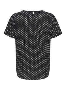 carluxcecilia ss top aop 1 15172708 only carmakoma t-shirt black/cloud dancer/dots