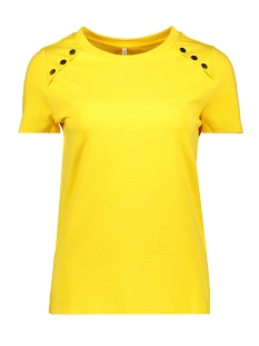 Only T-shirt onlNADIA S/S BUTTON TOP JRS 15173700 Solar Power