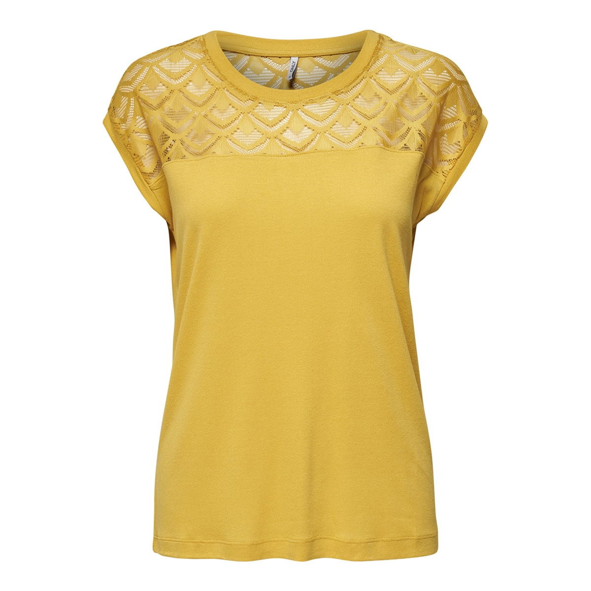 onlnicole s/s mix top noos 15151008 only t-shirt yolk yellow