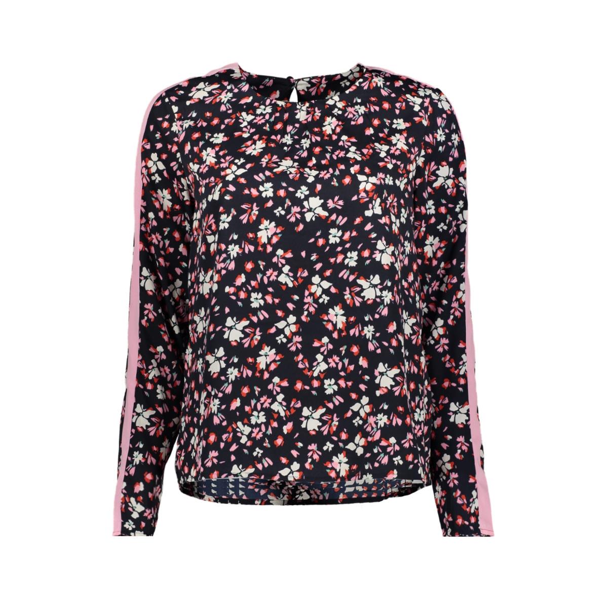 vmgerda nicky ls top wvn 10211783 vero moda t-shirt night sky/ gerda aop