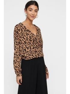 vmgreen ls wrap top vma 10210454 vero moda blouse indian tan/anni