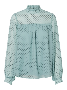 Vero Moda Blouse VMKATJA LS TOP WVN 10211820 Wasabi/NIGHT SKY