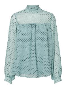 vmkatja ls top wvn 10211820 vero moda blouse wasabi/night sky