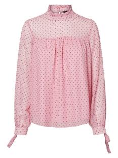 Vero Moda Blouse VMKATJA LS TOP WVN 10211820 Prism Pink/FIERY RED