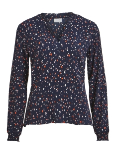 Vila Blouse VIATLA BLOOMING L/S TOP 14050482 Navy Blazer/2ND COMBO