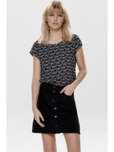 onlnova lux s/s aop top 4 wvn1 15179446 only t-shirt black/zebra