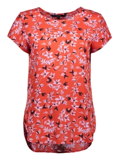 Vero Moda T-shirt VMBOCA SS BLOUSE PRINTED 10128072 Fiery Red/ VIOLA