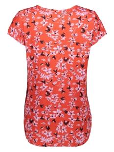 vmboca ss blouse printed 10128072 vero moda t-shirt fiery red/ viola