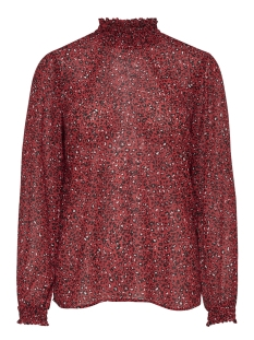 onlstar ls highneck chiffon top wvn 15173852 only blouse flame scarlet/star leo