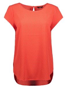 onlnova lux s/s aop top 4 wvn1 15179446 only t-shirt flame scarlet/multi dot
