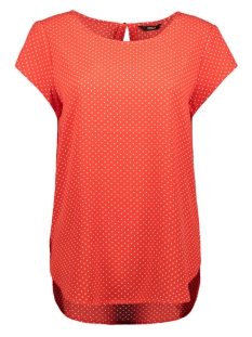 Only T-shirt onlNOVA LUX S/S AOP TOP 4 WVN1 15179446 Flame Scarlet/MULTI DOT