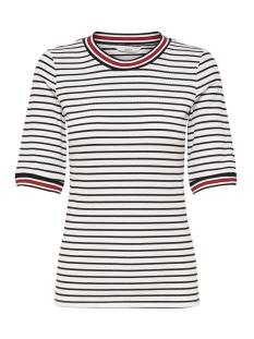 Only T-shirt onlKILMA RIB 2/4 TOP JRS 15171470 Cloud Dancer/BLACK