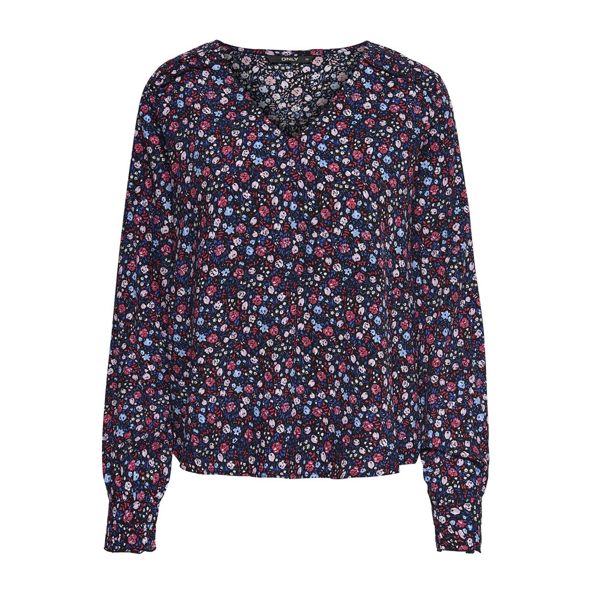onlmaya ls top wvn 15171877 only blouse black/ditsy flower
