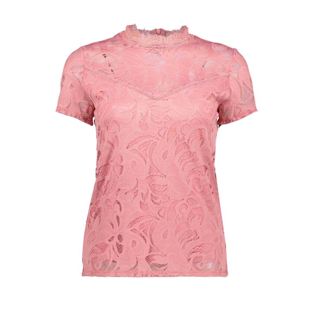 vistasia s/s lace top - fav 14052322 vila t-shirt brandied apricot