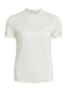Vila T-shirt VISTASIA S/S LACE TOP - NOOS 14049852 Cloud Dancer