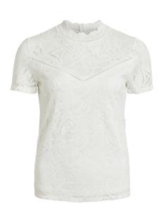 Vila T-shirt VISTASIA S/S LACE TOP - NOOS 14049852 Cloud Dancer