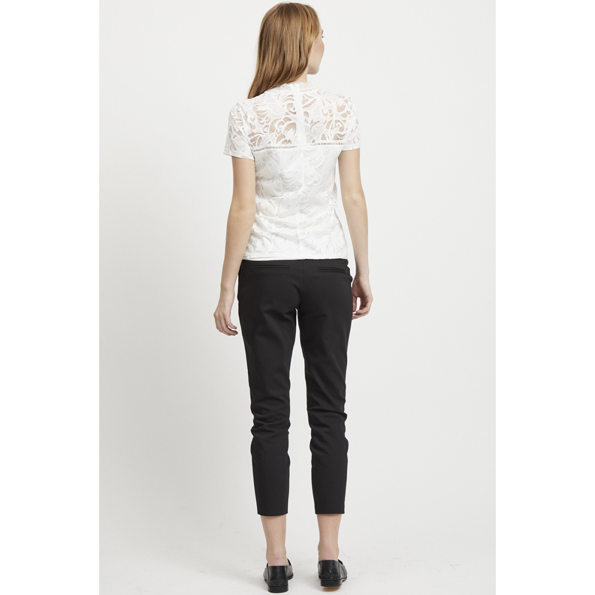 vistasia s/s lace top - noos 14049852 vila t-shirt cloud dancer