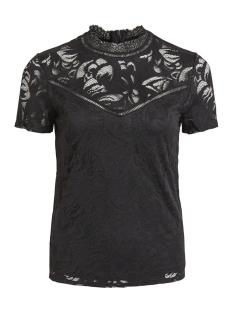 Vila T-shirt VISTASIA S/S LACE TOP - NOOS 14049852 Black