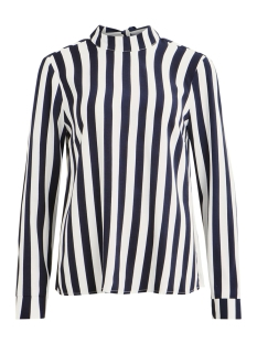 visommi linio l/s top 14050005 vila blouse navy blazer/cloud dancer