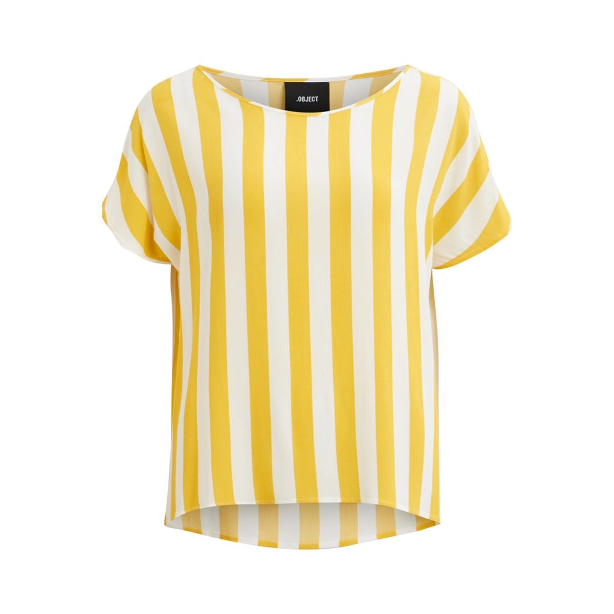 objbay s/s urban top aop seasonal 23028784 object t-shirt maize/w. white s