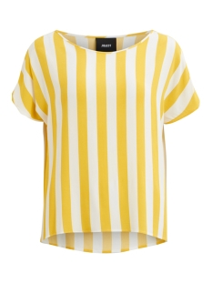 Object T-shirt OBJBAY S/S URBAN TOP AOP SEASONAL 23028784 Maize/W. WHITE S