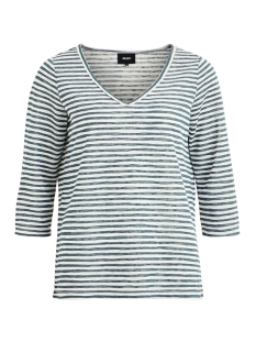 Object T-shirt OBJTESSI SLUB 3/4 TOP SEASONAL 23028775 Blue Spruce/WHITE STRIPE
