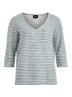 objtessi slub 3/4 top seasonal 23028775 object t-shirt blue spruce/white stripe
