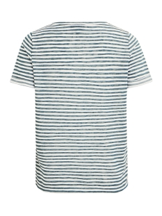 objtessi slub s/s v-neck seasonal 23026968 object t-shirt blue spruce/w. white s
