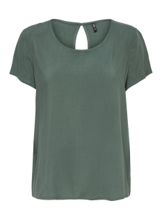 Only T-shirt onlFIRST SS TOP NOOS WVN 15133014 Balsam Green