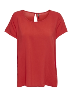 Only T-shirt onlFIRST SS TOP NOOS WVN 15133014 High Risk Red