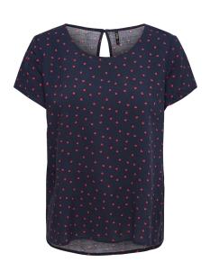 onlfirst ss mix aop top  noos wvn 15138761 only t-shirt night sky/high risk red