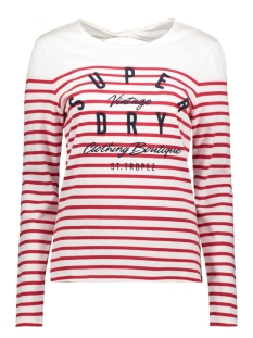 Superdry T-shirt G60107MT CALLIE TWIST BACK TOP NAUTICAL RED STRIPE