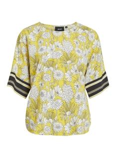objmargret 3/4 top .i 101 23029111 object t-shirt maize/flower aop