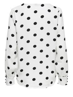 onluma ls top wvn 15172714 only blouse bright white/black dots