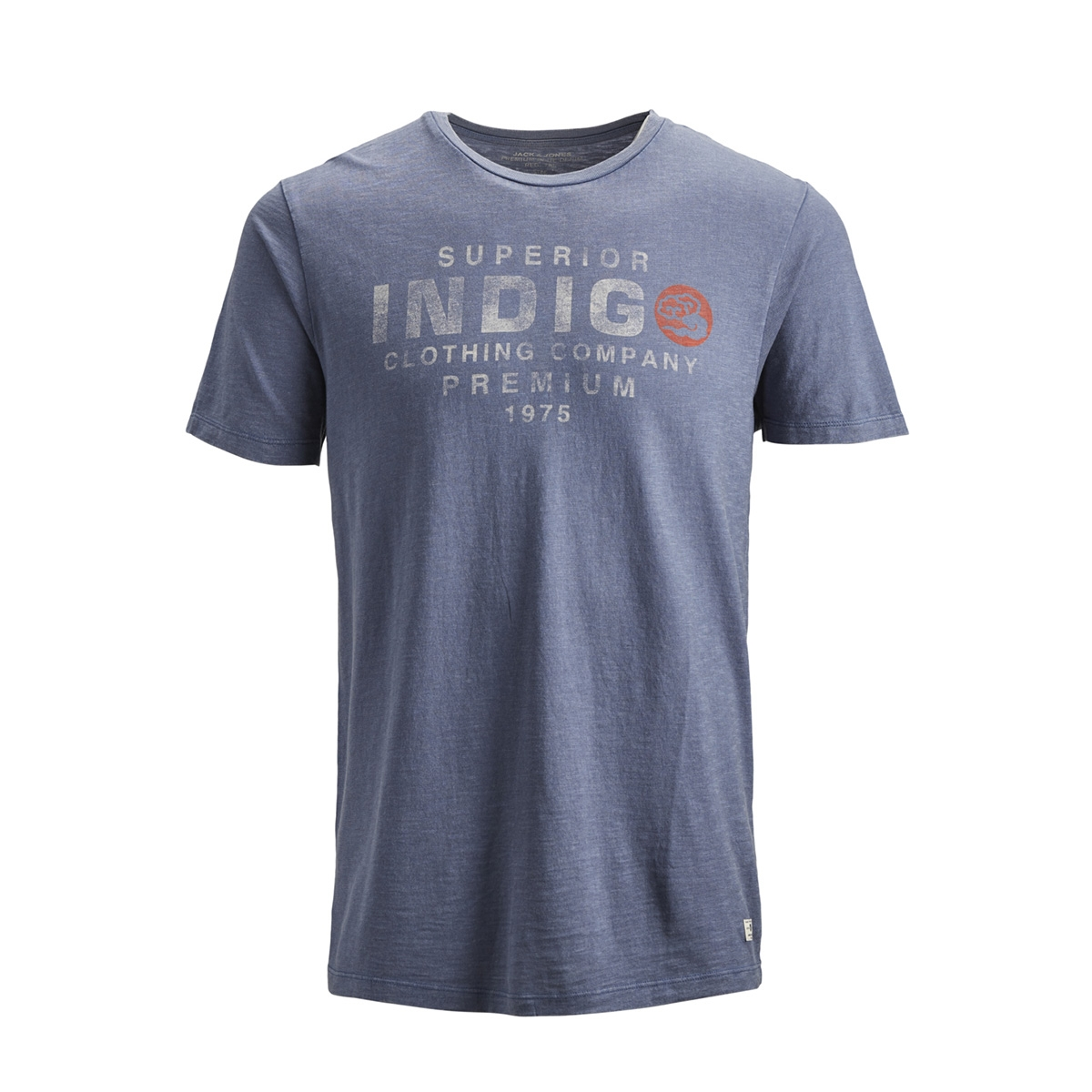 jprkeith blu. tee ss crew neck 12154622 jack & jones t-shirt vintage indigo