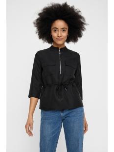 nmkila 3/4 sleeve shirt 2p 27006383 noisy may blouse black