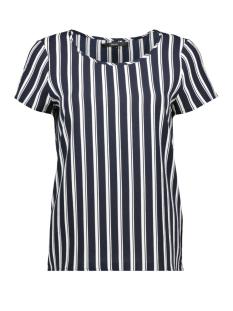 vmsasha ss top noos 10215414 vero moda t-shirt navy blazer/snow white