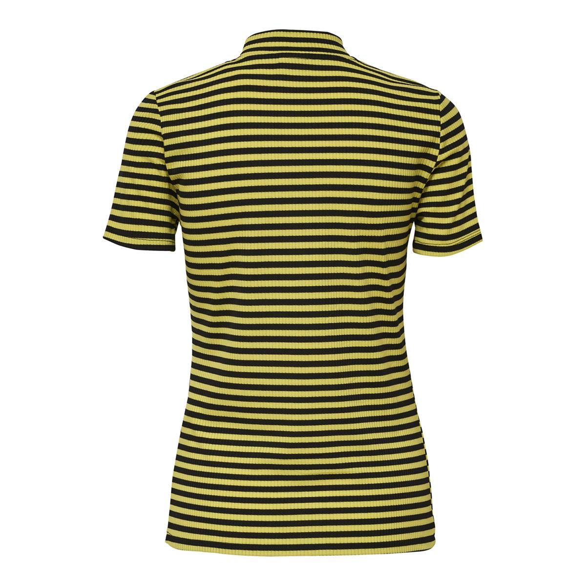 jdysonja s/s high neck top jrs 15168364 jacqueline de yong t-shirt green sheen/black