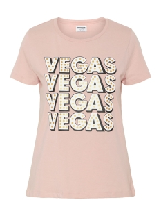 Noisy may T-shirt NMNATE S/S VEGAS FOIL TOP 2 27006290 Mellow Rose/VEGAS