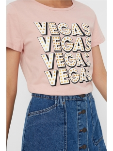 nmnate s/s vegas foil top 2 27006290 noisy may t-shirt mellow rose/vegas