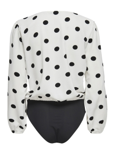 onluma ls body wvn 15172644 only blouse bright white/black dots