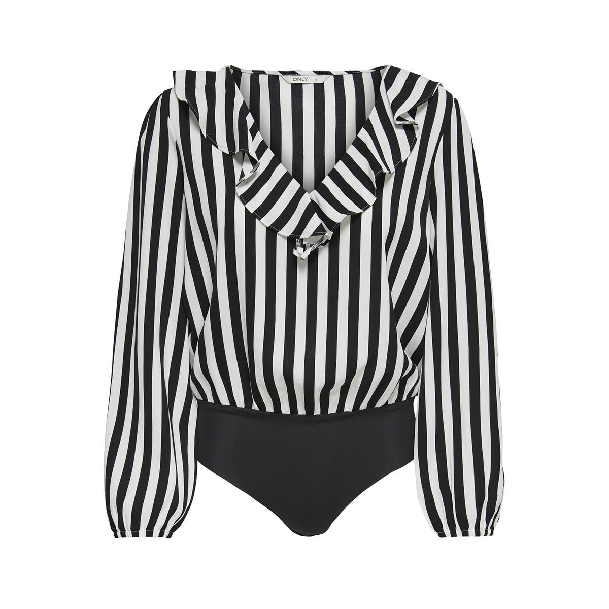 onluma ls body wvn 15172644 only t-shirt black/white