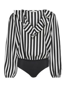 Only T-shirt onlUMA LS BODY WVN 15172644 Black/WHITE