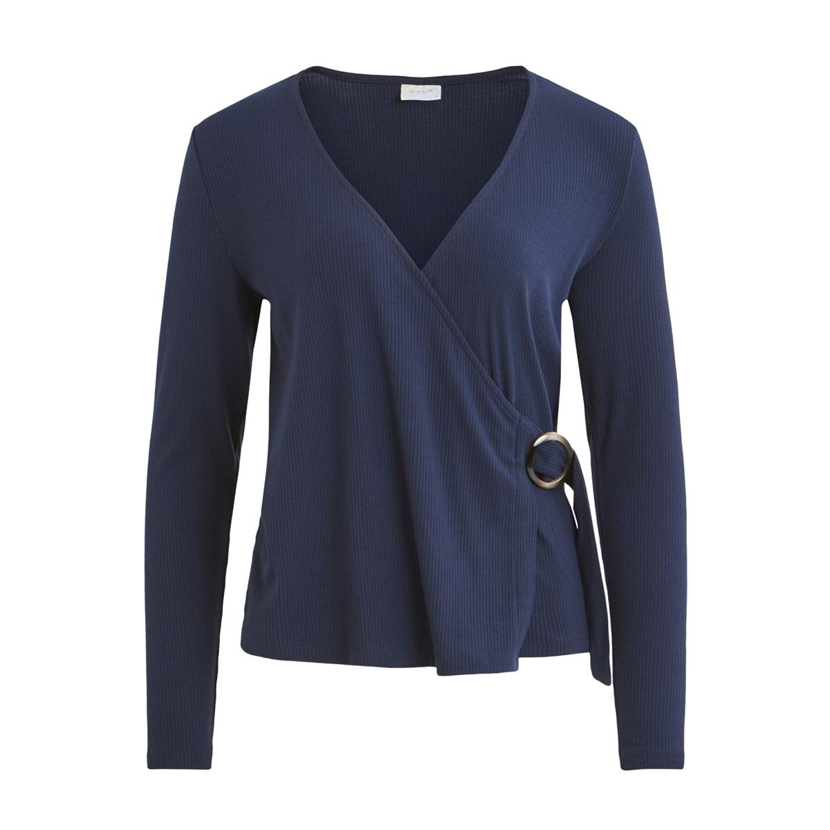 vibola l/s top/ki 14053619 vila t-shirt navy blazer