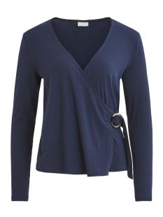 Vila T-shirt VIBOLA L/S TOP/KI 14053619 Navy Blazer